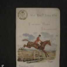 Coleccionismo deportivo: HIPICA - CONCURSO HIPICO INTERNACIONAL-BARCELONA 1918-REAL POLO JOCKEY CLUB-VER FOTOS-(V-8636). Lote 74628539