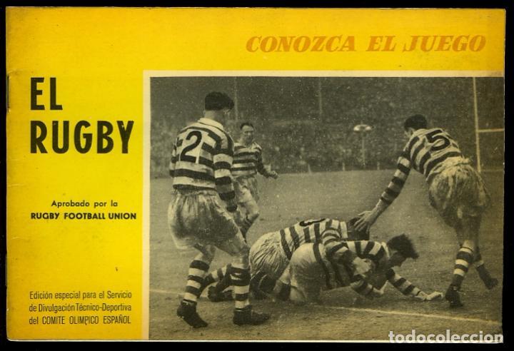 EL RUGBY. CONOZCA EL JUEGO. APROBADO POR LA RUGBY FOOTBALL UNION. BARCELONA, 1965. 48 PÁGINAS (Coleccionismo Deportivo - Libros de Deportes - Otros)