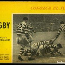 Coleccionismo deportivo: EL RUGBY. CONOZCA EL JUEGO. APROBADO POR LA RUGBY FOOTBALL UNION. BARCELONA, 1965. 48 PÁGINAS. Lote 78258469