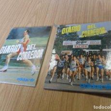Coleccionismo deportivo: LOTE 2 DIARIO DE UN CORREDOR DE JOSÉ MARÍA ODRIOZOLA. ADIDAS 1989. SIN USAR. RUNNING.. Lote 78314449