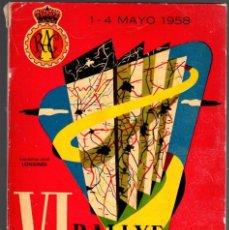 Coleccionismo deportivo: VI RALLYE NACIONAL DEL R.A.C.E. 1-4 MAYO 1958.. Lote 78586769