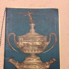 Coleccionismo deportivo: REVISTA XXVIII CONCURSO NTERNACIONAL DE TENIS TROFEO CONDECDE GODO. Lote 80338694