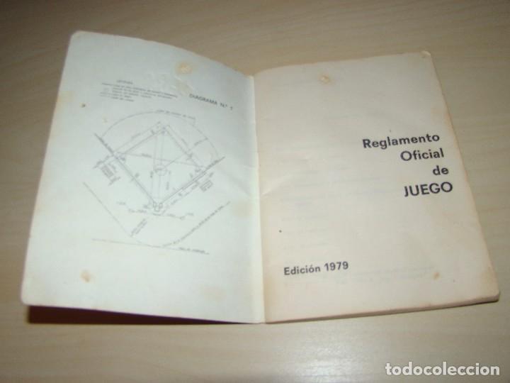 Coleccionismo deportivo: BÉISBOL - REGLAMENTO OFICIAL DE JUEGO - 1979 - Foto 3 - 89520216