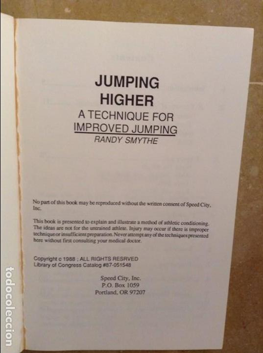 Coleccionismo deportivo: JUMPING HIGHER. A TECHNIQUE FOR IMPROVED JUMPING - RANDY SMYTHE - - Foto 2 - 97186771