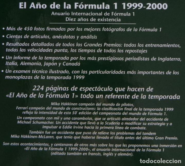Coleccionismo deportivo: EL AÑO DE LA FÓRMULA 1 1999 2000 - LIBRO F1 DEPORTE COCHES GR PREMIOS HISTORIA FOTOS PILOTOS FERRARI - Foto 2 - 97249627