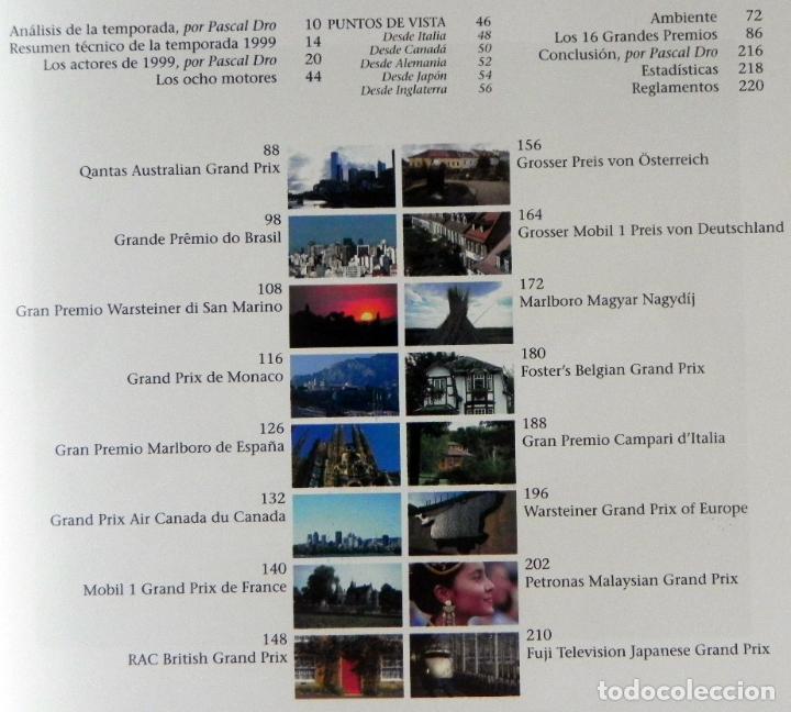 Coleccionismo deportivo: EL AÑO DE LA FÓRMULA 1 1999 2000 - LIBRO F1 DEPORTE COCHES GR PREMIOS HISTORIA FOTOS PILOTOS FERRARI - Foto 3 - 97249627
