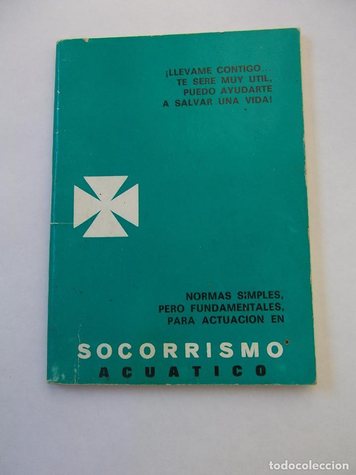 SOCORRISMO ACUATICO. NORMAS SIMPLES PERO FUNDAMENTALES PARA ACTUACION. 1967. TDKP12 (Coleccionismo Deportivo - Libros de Deportes - Otros)
