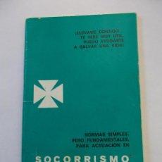 Coleccionismo deportivo: SOCORRISMO ACUATICO. NORMAS SIMPLES PERO FUNDAMENTALES PARA ACTUACION. 1967. TDKP12. Lote 98586319