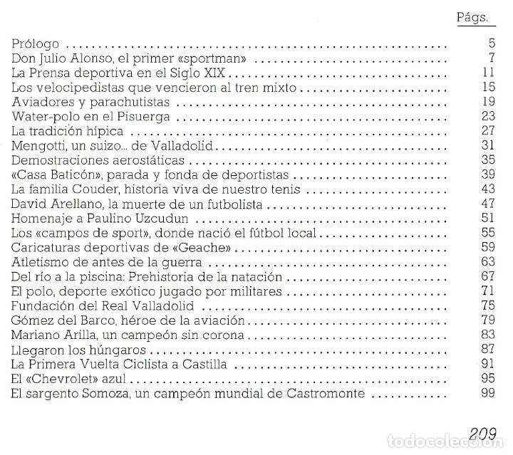 Coleccionismo deportivo: VALLADOLID, VIEJAS HISTORIAS DEPORTIVAS - 210 PAGINAS - 64 FOTOGRAFIAS - NUEVO - Foto 4 - 99828827
