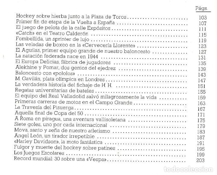 Coleccionismo deportivo: VALLADOLID, VIEJAS HISTORIAS DEPORTIVAS - 210 PAGINAS - 64 FOTOGRAFIAS - NUEVO - Foto 5 - 99828827