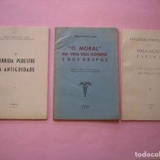 Coleccionismo deportivo: PORTUGAL - MARIO GONÇALVES VIANA - 3 LIBROS CON DEDICATORIA DEL AUTOR - AÑO 1951 - VER. Lote 102932303