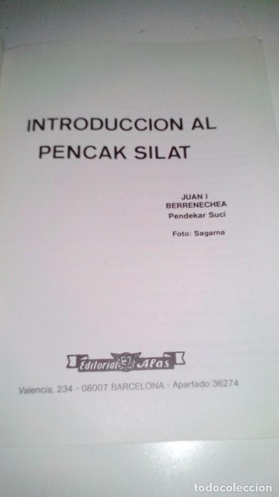 Coleccionismo deportivo: INTRODUCCIÓN AL PENCAK SILAT-Juan I. Berrenechea -Pendekar Suci-editorial ALAS 1986-ARTES MARCIALES - Foto 3 - 192359658