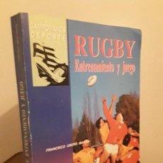 Coleccionismo deportivo: RUGBY - ENTRENAMIENTO UN JUEGO- FRANCISCO USERO MARTIN- CAMPOMANES DEPORTES. Lote 108083087