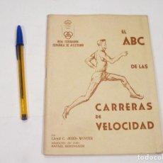 Coleccionismo deportivo: EL ABC DE LAS CARRERAS DE VELOCIDAD - LLOYD C. WINTER. Lote 110469323