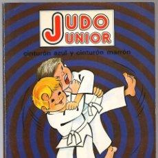 Coleccionismo deportivo: GASPAR,V. , JUDO JUNIOR CINTURON AZUL Y CINTURON MARRÓN ,1978 FHER. Lote 156871637