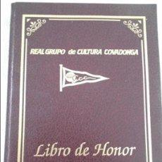 Coleccionismo deportivo: REAL GRUPO DE CULTURA COVADONGA. LIBRO DE HONOR. 1995. TAPA DURA. CON FOTOGRAFIAS. 329 PAGINAS. 1820. Lote 111899859