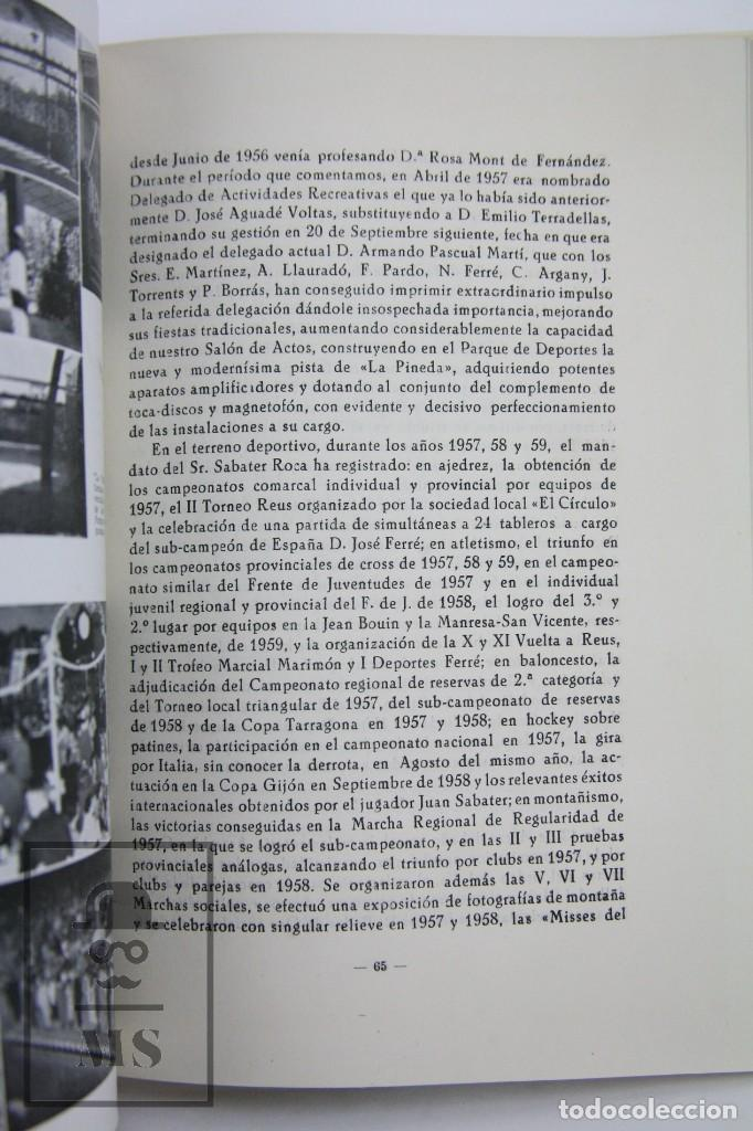 Coleccionismo deportivo: Libro Bodas de Oro. Reus Deportivo 1909-1959 - Edición Limitada 600 Ejemplares - Reus, 1961 - Foto 4 - 112334191
