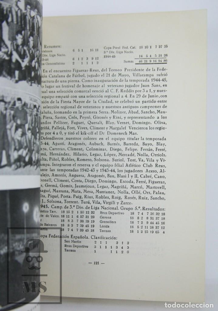Coleccionismo deportivo: Libro Bodas de Oro. Reus Deportivo 1909-1959 - Edición Limitada 600 Ejemplares - Reus, 1961 - Foto 10 - 112334191