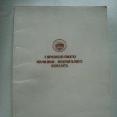 Coleccionismo deportivo: DOSSIER - EXPEDICIÓ MOTO IGUALADA / KILIMANJARO 6010 METRES (UHURU PEAK). KIBO TRIAL (1974).. Lote 112951451
