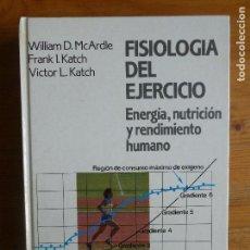 Coleccionismo deportivo: FISIOLOGÍA DEL EJERCICIO: ENERGÍA, NUTRICIÓN Y RENDIMIENTO HUMANO MACARDLE, ALIANZA DEPORTE.1990 688. Lote 113523951