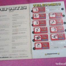 Coleccionismo deportivo: TELE COMICS DEPORTIVOS ALBUM JAN BUEN ESTADO.. Lote 114382755