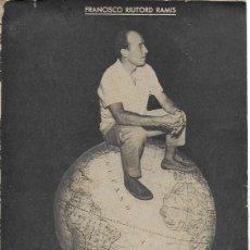 Coleccionismo deportivo: CAMPEONISIMO. BIOGRAFIA DE GUILLERMO TIMONER OBRADOR / F. RIUTORD. PALMA : TOUS, 1962. CICLISMO. . Lote 114701923