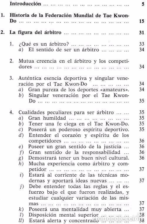 Coleccionismo deportivo: B184 - TAE KWON DO. TAEKWONDO. Arbitraje. Reglamento Federacion Mundial. Artes Marciales. Karate. - Foto 4 - 116989647