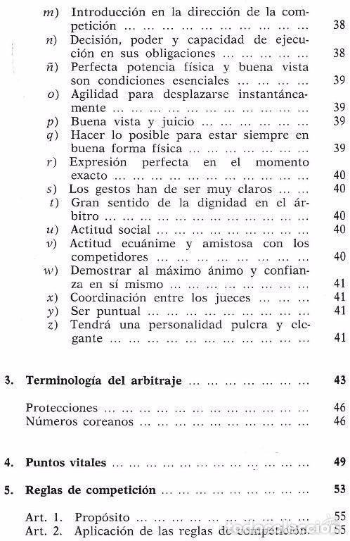 Coleccionismo deportivo: B184 - TAE KWON DO. TAEKWONDO. Arbitraje. Reglamento Federacion Mundial. Artes Marciales. Karate. - Foto 5 - 116989647