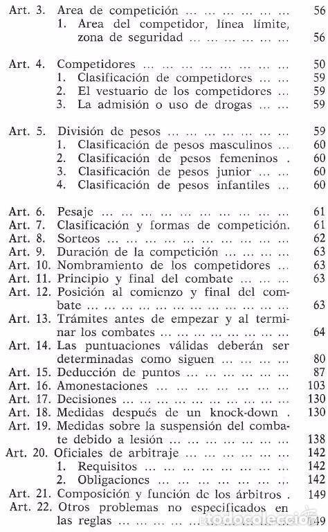 Coleccionismo deportivo: B184 - TAE KWON DO. TAEKWONDO. Arbitraje. Reglamento Federacion Mundial. Artes Marciales. Karate. - Foto 6 - 116989647