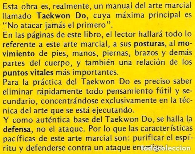 Coleccionismo deportivo: B186 - TAEKWONDO. TAE KWON DO. Artes Marciales. Wo-Lu-Tao. Karate. - Foto 4 - 116989767