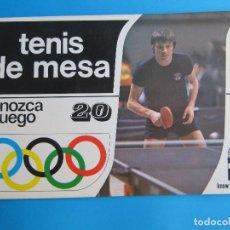 Coleccionismo deportivo: TENIS DE MESA O PING PONG. CONOZCA EL JUEGO Nº 20. EDICIONES AURA, BARCELONA, 1978.. Lote 118993727