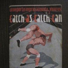 Coleccionismo deportivo: CATCH AS CATCH CAN - LUCHA LIBRE ....- REGLAMENTOS - JUGADORES -VER FOTOS-(V-14.390). Lote 119880659