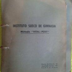 Coleccionismo deportivo: INSTITUTO SUECO DE GIMNASIA MÉTODO AÑOS 60-70 - VITAL - POST - CURSO POR CORRESPONDENCIA. Lote 120361179