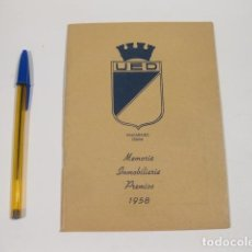 Coleccionismo deportivo: MEMORIA INMOBILIARIA PREMIOS 1958. VALPARAISO. CHILE. UNION ESPAÑOLA DE DEPORTES. Lote 121123203