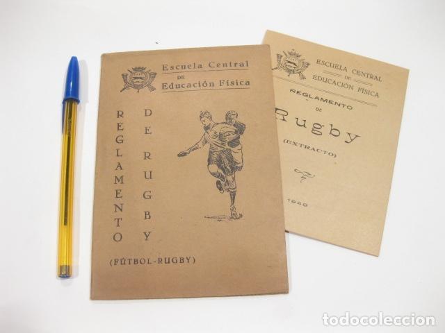 REGLAMENTO DE RUGBY. ESCUELA CENTRAL DE EDUCACIÓN FISICA. FUTBOL - RUGBY. 1940 (Coleccionismo Deportivo - Libros de Deportes - Otros)