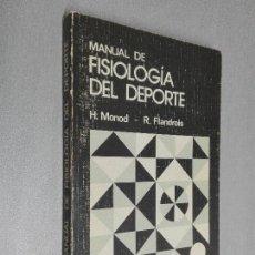 Coleccionismo deportivo: MANUAL DE FISIOLOGÍA DEL DEPORTE / H. MONOD - R. FLANDROIS / MASSON 1986. Lote 121713355