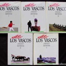 Coleccionismo deportivo: NOSOTROS LOS VASCOS. JUEGOS Y DEPORTE. 5 TOMOS. OBRA COMPLETA. ED.LUR. AÑO: 1990.. Lote 123343983