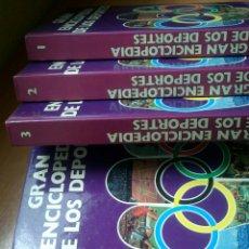 Coleccionismo deportivo: LOTE 5 LIBROS GRAN ENCICLOPEDIA DE LOS DEPORTES 5 TOMOS AÑO 1984. Lote 124524100
