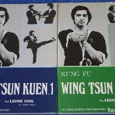 Coleccionismo deportivo: KUNG FU - WING TSUN KUEN 1 Y 2 - LEUNG TING - EDITORIAL ESTEBAN SAN MARTINEZ (1985). Lote 127002399