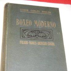 Coleccionismo deportivo: BOXEO MODERNO. DEL CONDE CARLOS ZINSLER - ED.MAUCCI. Lote 127209343