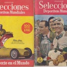 Coleccionismo deportivo: SELECCIONES DEPORTIVAS MUNDIALES DOS NÚMEROS PEÑA RHIN AUTOMOBILISMO 1951 CIRCUITO PEDRALBES . Lote 128460891