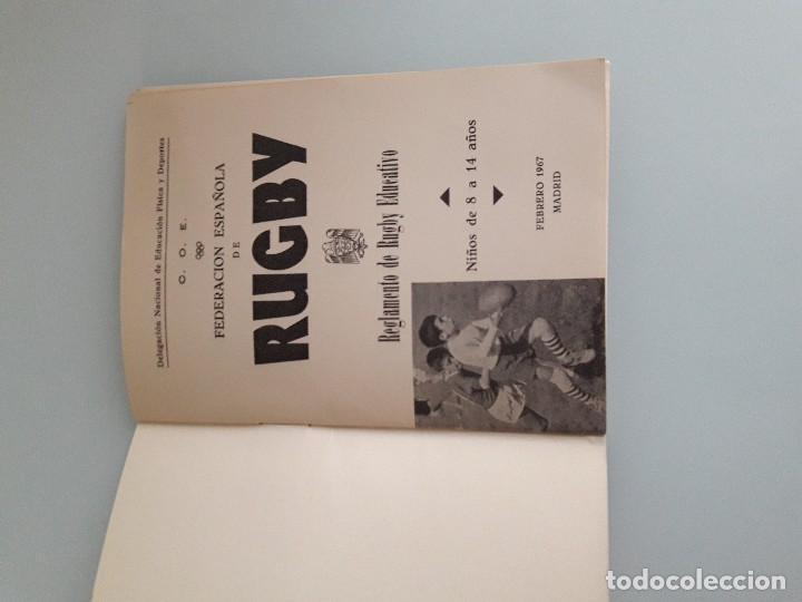 Coleccionismo deportivo: RUGBY - Reglamento de Rugby Educativo - Federación Española - Madrid 1967 - Foto 3 - 128524719