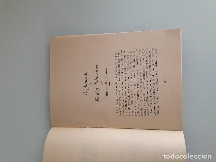 Coleccionismo deportivo: RUGBY - Reglamento de Rugby Educativo - Federación Española - Madrid 1967 - Foto 4 - 128524719