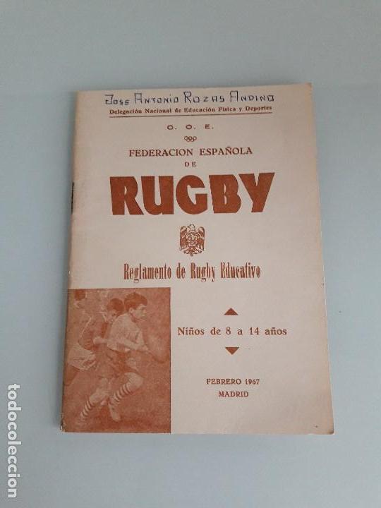 RUGBY - REGLAMENTO DE RUGBY EDUCATIVO - FEDERACIÓN ESPAÑOLA - MADRID 1967 (Coleccionismo Deportivo - Libros de Deportes - Otros)
