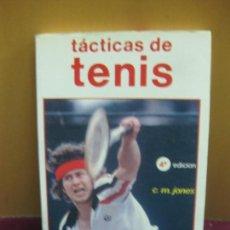 Coleccionismo deportivo: TACTICAS DE TENIS. C.M,. JONES. HISPANO EUROPEA. 1986. Lote 128703211