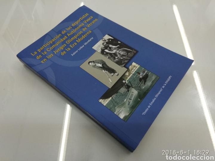 Coleccionismo deportivo: LA PARTICIPACION DE LOS DEPORTISTAS DE LA COMUNIDAD AUTONOMA VASCA EN LOS JUEGOS OLIMPICOS X. LEIBAR - Foto 2 - 129642812