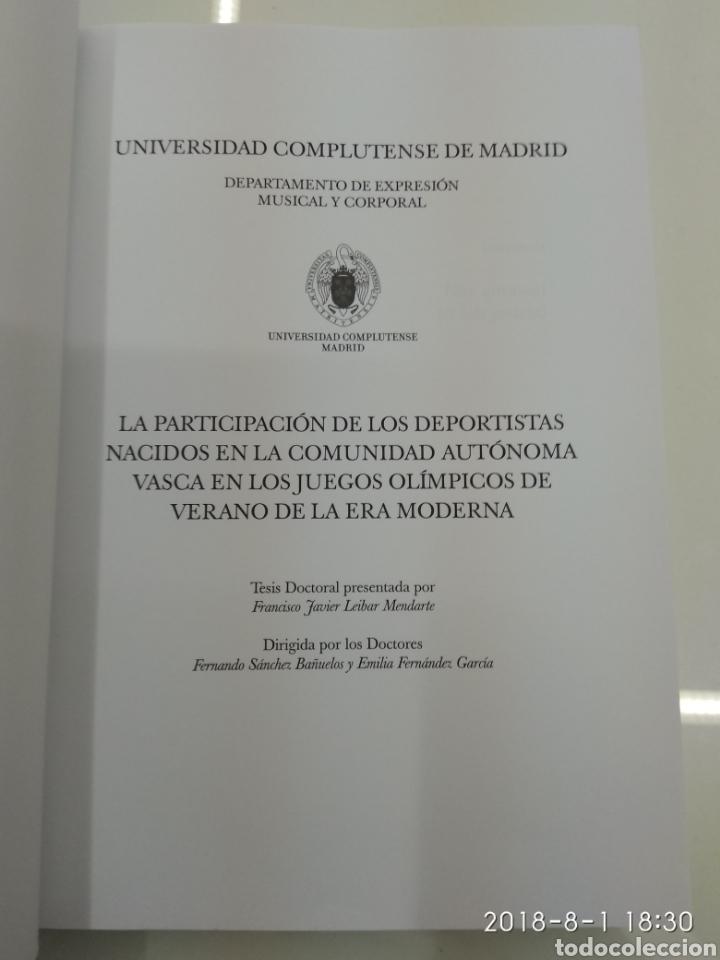 Coleccionismo deportivo: LA PARTICIPACION DE LOS DEPORTISTAS DE LA COMUNIDAD AUTONOMA VASCA EN LOS JUEGOS OLIMPICOS X. LEIBAR - Foto 4 - 129642812