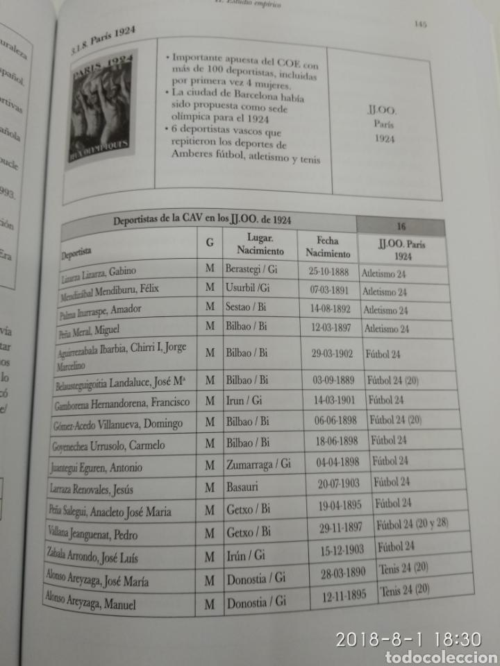 Coleccionismo deportivo: LA PARTICIPACION DE LOS DEPORTISTAS DE LA COMUNIDAD AUTONOMA VASCA EN LOS JUEGOS OLIMPICOS X. LEIBAR - Foto 6 - 129642812