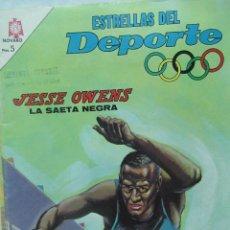 Coleccionismo deportivo: ESTRELLAS DEL DEPORTE NOVARO. BUEN ESTADO JESSE OWENS ATLETISMO TZ. Lote 132856322