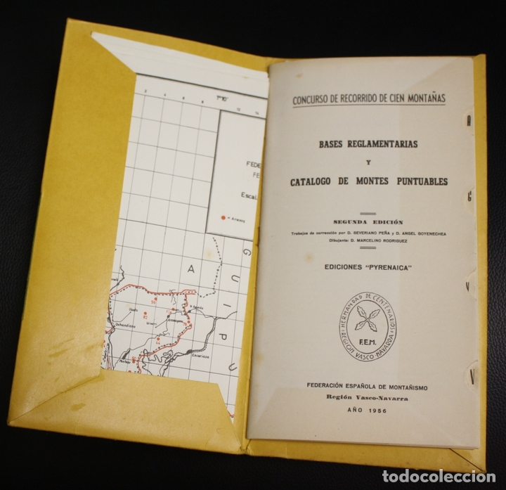 Coleccionismo deportivo: CATALOGO DE CIMAS PARA EL RECORRIDO DE LOS CIEN MONTES. REGLAMENTO DEL CONCURSO. PYRENAICA, 1956 - Foto 2 - 133821519